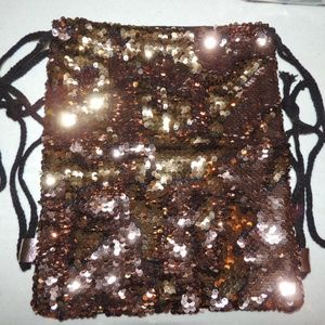 NEW Gold/Rose Gold Sequin Shift Glitter Backpack
